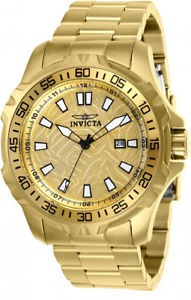 【送料無料】invicta mens pro diver quartz 100m goldplated stainless steel watch 25786