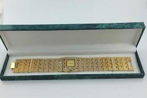 【送料無料】unworn suzanne somers goldtone crystal enhanced 8 l x 1 w bracelet watch nib