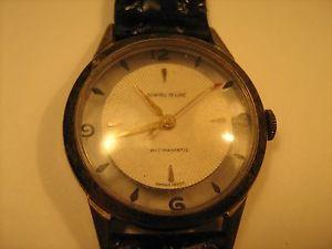 【送料無料】vintage analog wristwatch dunhall deluxe antimagnetic *nonworking* [h11]