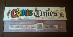 【送料無料】ultra rare 1986 sutton time nancy comic strip vintage character watch mintbox