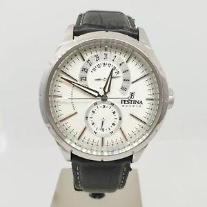【送料無料】orologio festina retr f16573 multifunzione quarzo acciaio uomo 44vv18