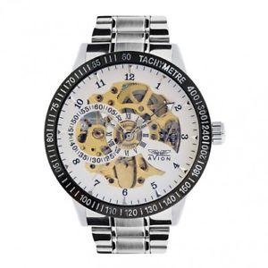 【送料無料】orologio avion skeleton ii automatic uomo acciaio bianco av1815wt