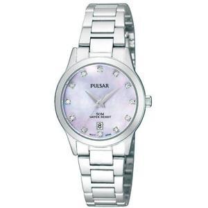【送料無料】pulsar ladies crystal set mother of pearl watch ph7311x1