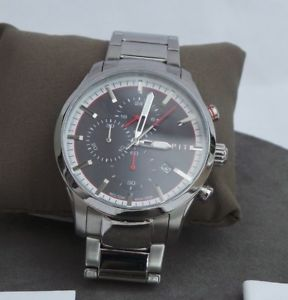 【送料無料】esprit mens chronograph quartz watch with stainless steel strap es108391008