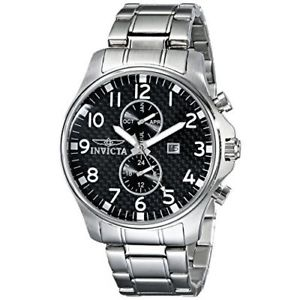 【送料無料】invicta specialty 0379 stainless steel chronograph watch