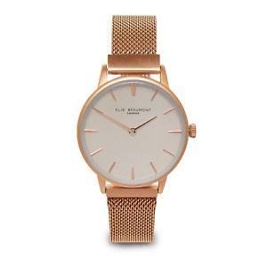 【送料無料】elie beaumont aw18 rose gold mesh holborn watch