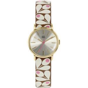 【送料無料】orla kiely ladies patricia leather strap watch  ok2202