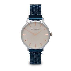 【送料無料】elie beaumont aw18 navy mesh holborn watch