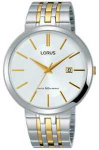 【送料無料】lorus mens two tone gold and silver bracelet quartz rh915jx9 watch 14