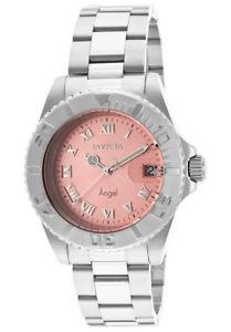 【送料無料】invicta womens angel quartz 200m silver tone stainless steel watch 14360