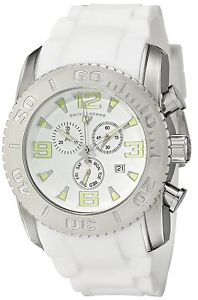 【送料無料】swiss legend mens silver steel case white rubber strap quartz watch 1006702