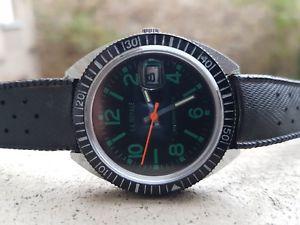 【送料無料】plongeuse montre bracelet vintage 1970 mecanique diving french watch old 37 mm