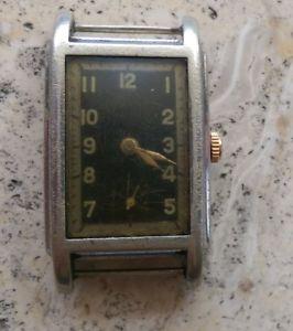 【送料無料】vintage wagner cal 820 as 954 rectangular 15 rubis 1930