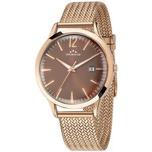 【送料無料】orologio chronostar charles uomo r3753256001 watch maglia milanese oro rosa