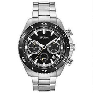 【送料無料】bulova 98b298 mens 45mm ssteel high frequency quartz chronograph watch po
