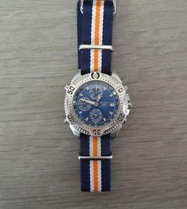 【送料無料】montre yema 200m ym527 cal 7t32 chronograph alarm quartz vintage watch