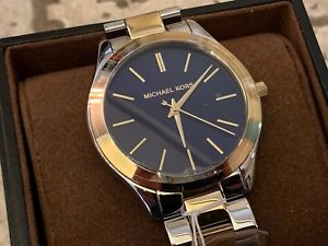 【送料無料】 nib *michael kors* mk3479 goldsilver runway watch