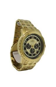 【送料無料】invicta specialty 19463 mens round analog chronograph date gold tone watch