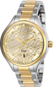 【送料無料】invicta womens angel quartz 100m two tone stainless steel watch 27435