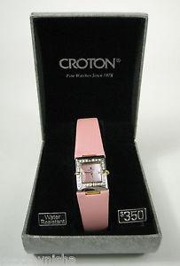 【送料無料】croton fine watch sapphire crystal stainless steel pink resistant needs battery