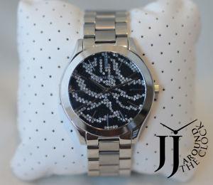 【送料無料】michael kors womens silver slim runway st steel bracelet watch 42mm mk3314