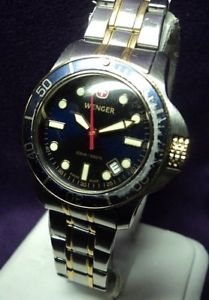 serviced~wenger 7233xt battalion~stainless steel 200m wr womens diver  watch