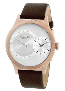 kenneth cole  york mens kc1894 rose gold case subsecond quartz watch