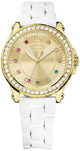 【送料無料】nib juicy couture womens jetsetter white silicone strap watch 38mm 1901238