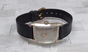 【送料無料】vintage lord elgin mens 14kt gold filled wristwatch 19jewels ~ 13b917