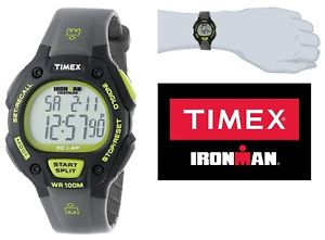 【送料無料】timex ironman watch classic 30lap 100m water resistent in greyneon lime green