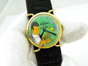 【送料無料】the adventures of gulliver,70s manual wind mens character watch,749,lk