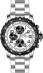 【送料無料】invicta specialty 5999 mens round white chronograph date stainless steel watch