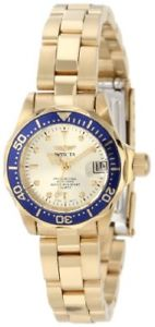【送料無料】invicta womens 4610 pro diver collection 18k goldplated watch