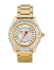 【送料無料】 betsey johnson womens bj0030102 analog display quartz gold watch
