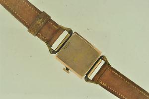 vintage mens bulova wristwatch 14k  rose gold filled case caliber 8ah