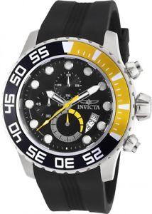 mens invicta 20449 pro diver chronograph polyurethane strap watch
