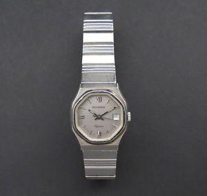 【送料無料】quality vintage stainless steel bucherer ladies quartz wrist watch gwo