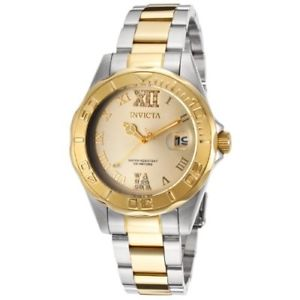 【送料無料】invicta womens 14351 pro diver analog display swiss quartz two tone watch