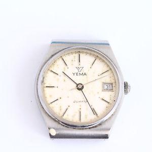 【送料無料】montre quartz yema boitier acier  f3811