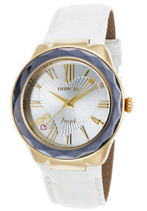 invicta womens angel quartz 100m stainless steel white leather watch 22540