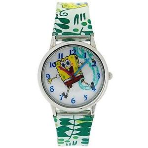 【送料無料】spongebob squarepants kids childrens analogue pu strap watch sb042