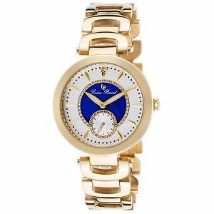 【送料無料】lucien piccard womens gold stainless steel amp; blue quartz watch 10268yg22bla