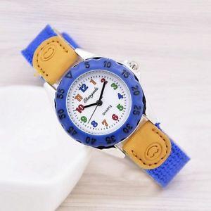 【送料無料】student wristwatch high quality kids quartz kids childrens fabric strap watch
