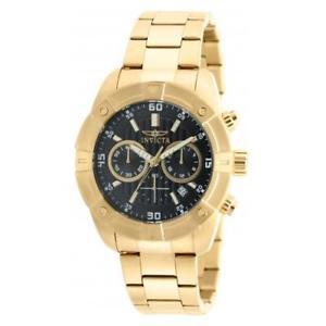 【送料無料】invicta mens specialty quartz chronograph stainless steel watch 21470