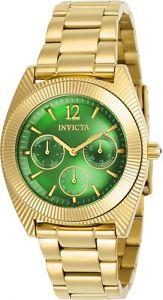 【送料無料】invicta womens angel quartz chronograph stainless steel watch 23749