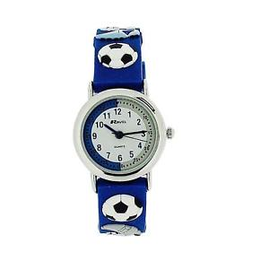 【送料無料】ravel time teacher kids boys football blue watch telling time award r151332b