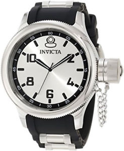 【送料無料】invicta mens russian diver quartz 100m stainless steel polyurethane watch 1435