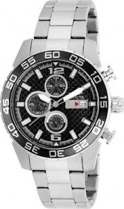 invicta mens specialty quartz chrono 100m stainless steel watch 21375