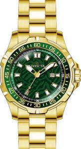 【送料無料】25785 invicta 48mm mens pro diver quartz 100m stainless steel gold plated watch
