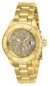 【送料無料】26293 invicta 34mm womens angel quartz 100m gold tone stainless steel watch